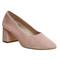 Office mia ballet block heels pink suede - mid heels