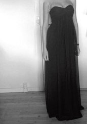 dress,long dress,black,maxi