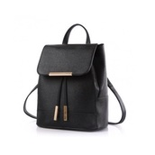 bag,backpack,black,gold,roseglod,cute,school bag,school girl,simple et chic,chic,celebrity style,leather,dark,grunge,rock,punk rock,punk,trendy