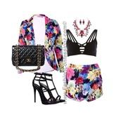 www.fashionconfessionz.com #floral #multicolors #shorts #bla
