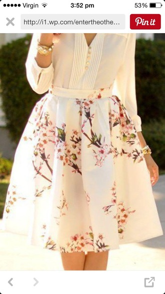 skirt white floral spring spring outfits