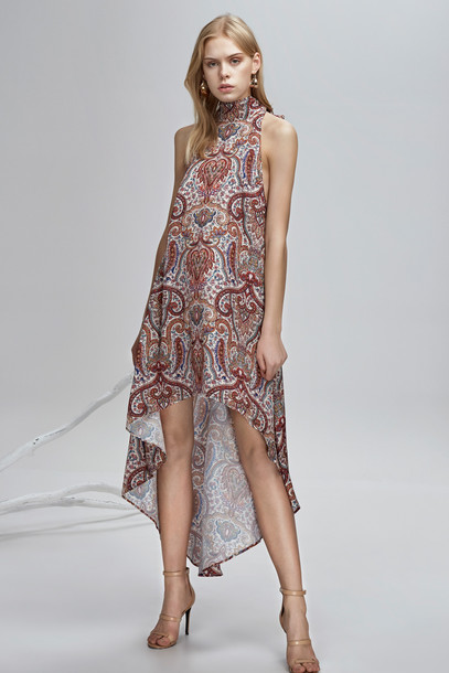 Finders Keepers dress henna print