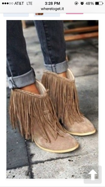 shoes fringes