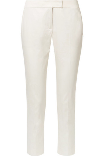 pants cropped cotton cream