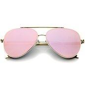 sunglasses,aviator sunglasses,pink,pink sunglasses,gold,mirror,gold sunglasses,mirrored sunglasses