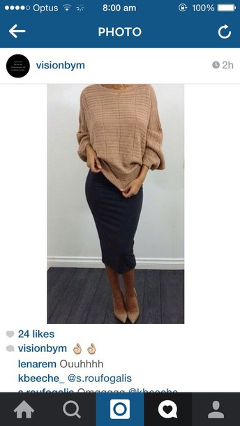 sweater beige brown witchery