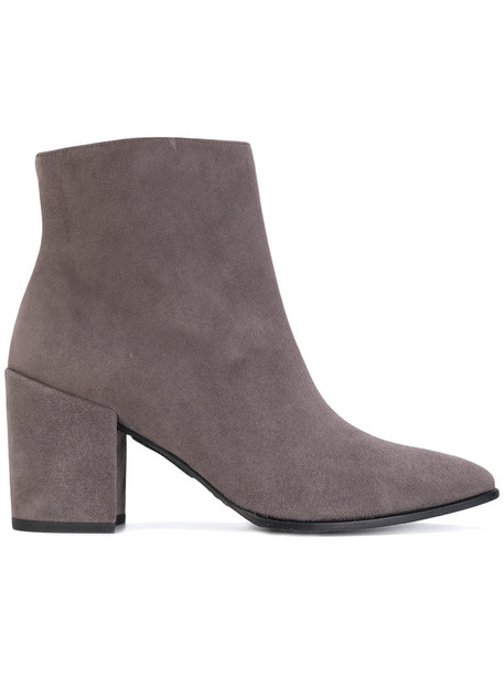 STUART WEITZMAN women ankle boots leather suede grey shoes