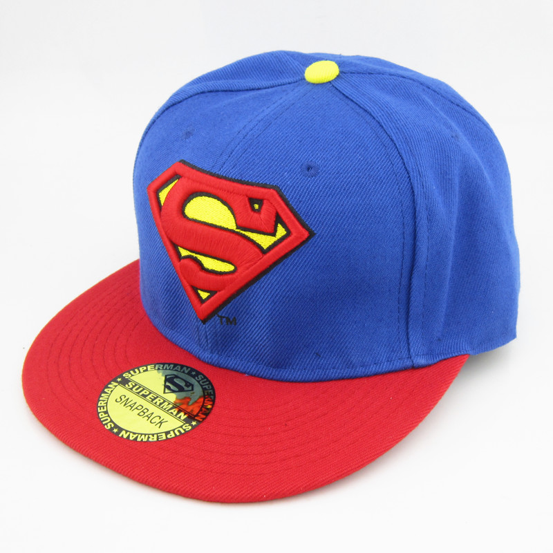 New DC Comics Adjustable Snapback Superman Flat Bill Hiphop Baseball Hat Cap | eBay