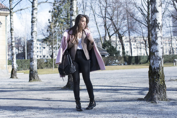 blaastyle blogger bag coat jacket shoes jewels jeans