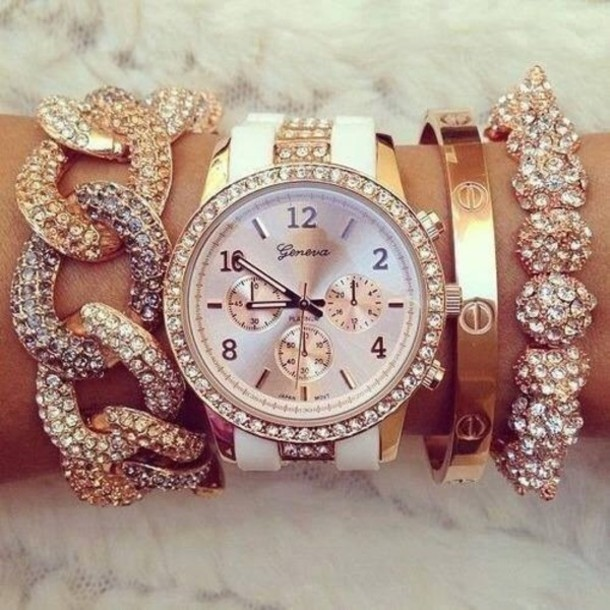 jewels watch watch bracelets geneva bangle jewelry