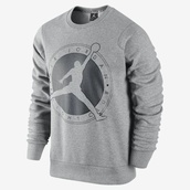 shirt,air jordan,sweater,jacket,jordans,grey sweater,sweatshirt