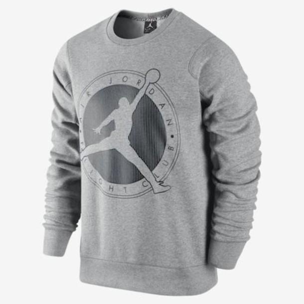 shirt air jordan sweater jacket jordans grey sweater sweatshirt 762612b47322