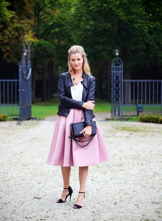 passions for fashion blogger skirt jacket top shoes bag jewels