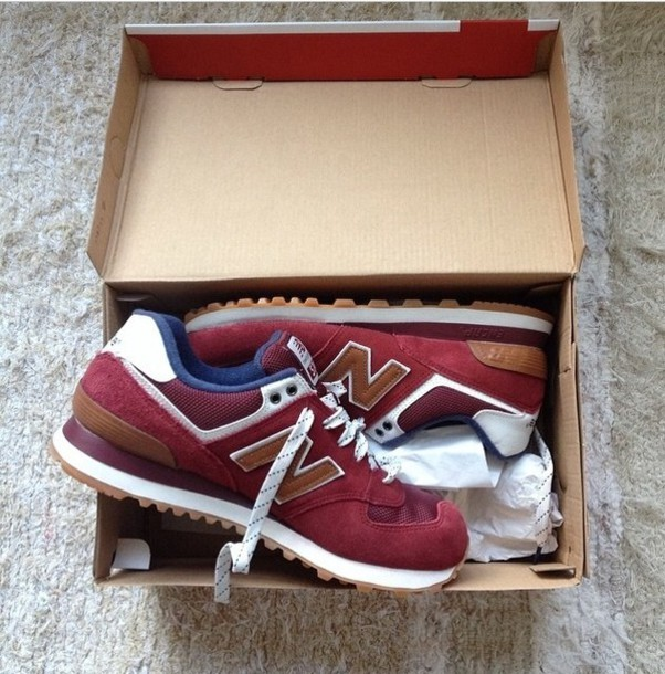 shoes new balance burgundy sneakers