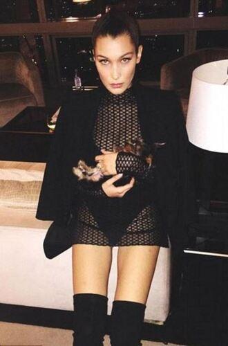 dress mesh mesh dress tunic dress bella hadid all black everything instagram