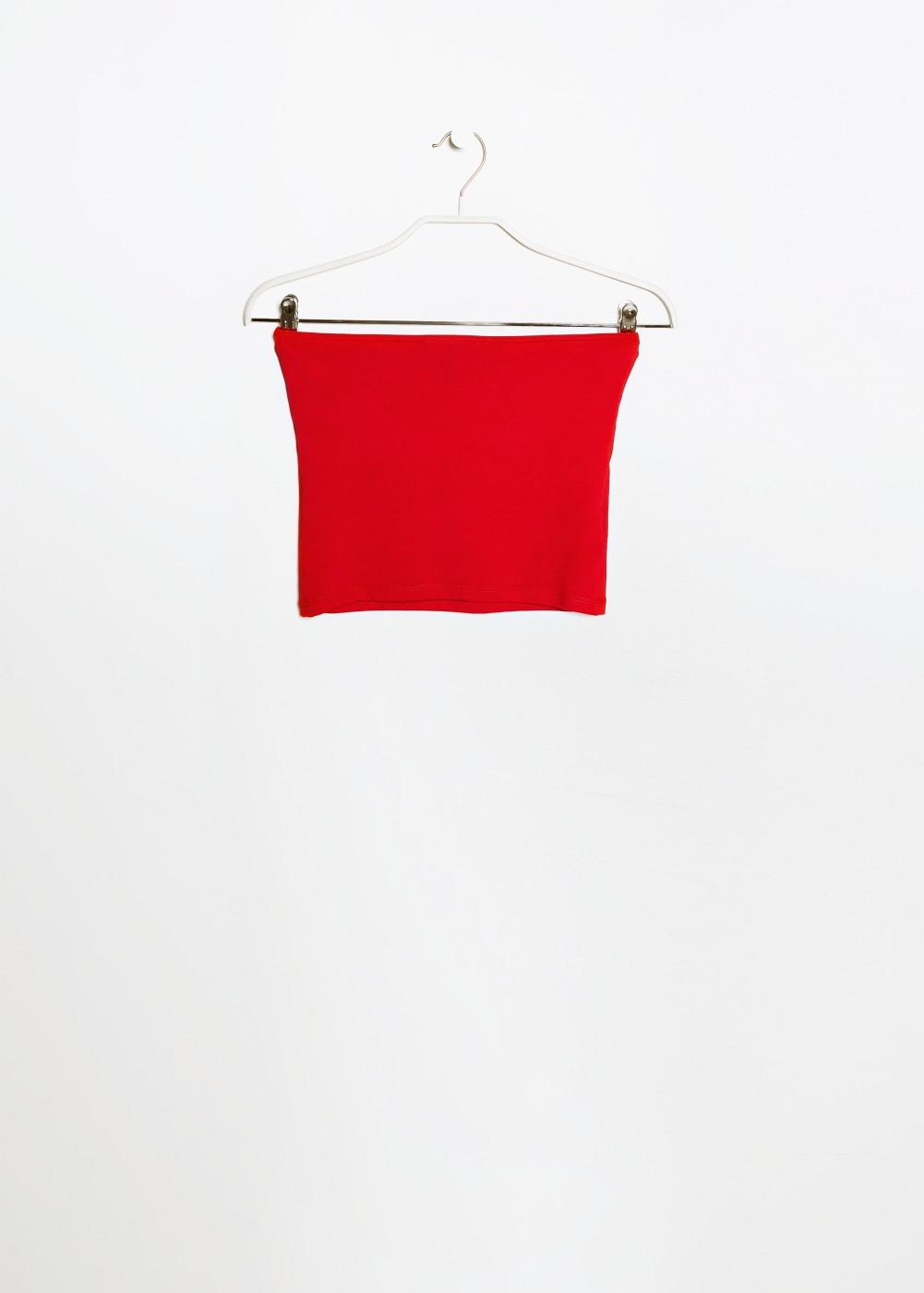 Top bandeau -  Camisetas y tops - Mujer - MANGO