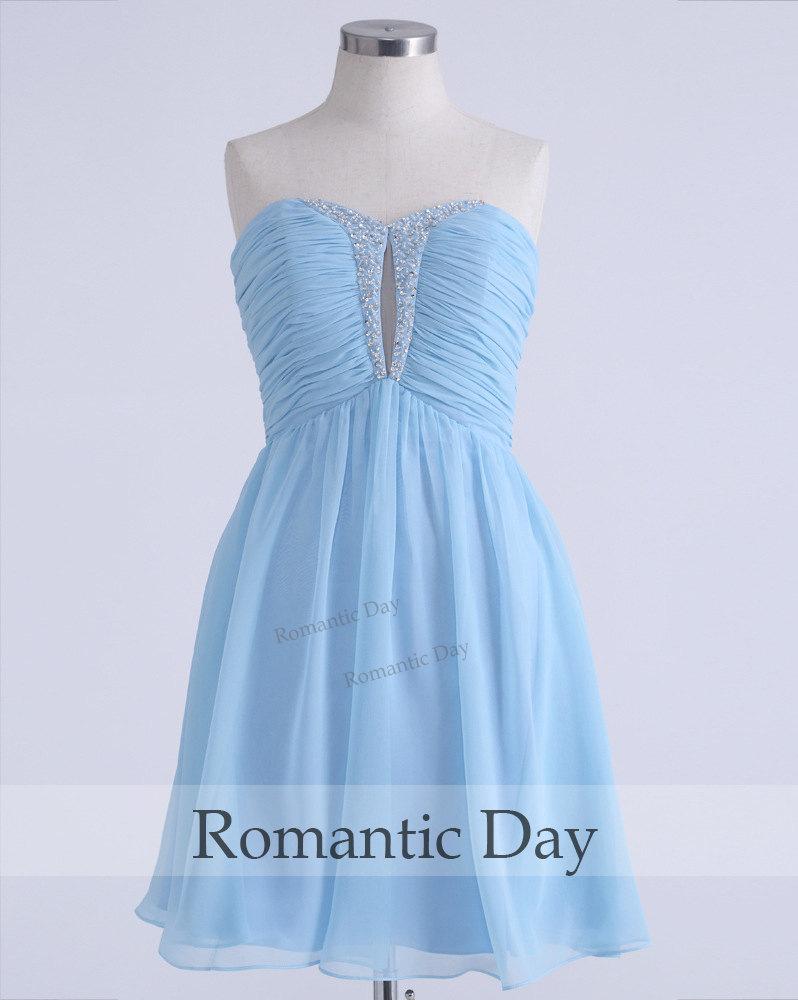 Sexy sweetheart beading chiffon homecoming dress/cocktail dresses/bridesmaid dresses/short prom dress party/custom made 0319