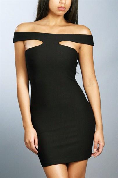 a74466909196 black black dress sexy sexy dress cute dress grown woman dress off the  shoulder tumblr outfit