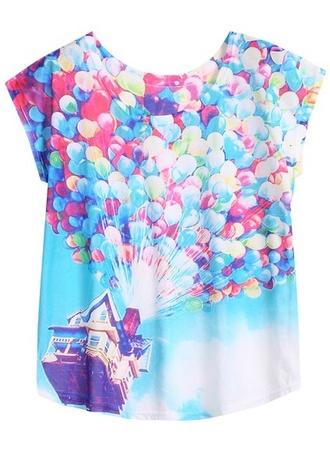 shirt pink bleue green whit