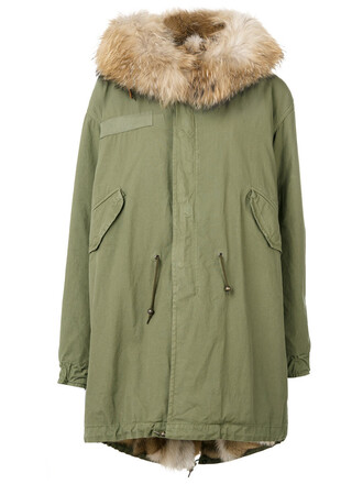 parka women dog cotton green coat