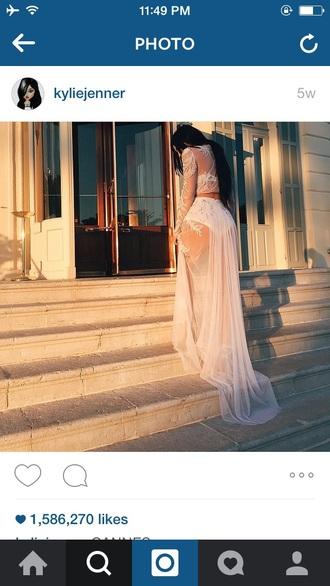 blouse white dress kylie jenner