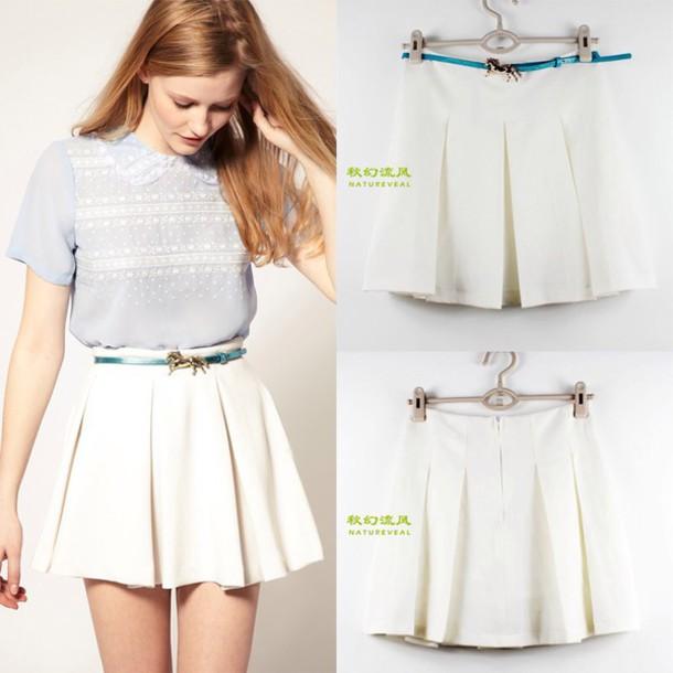 skirt white girl white skirt style