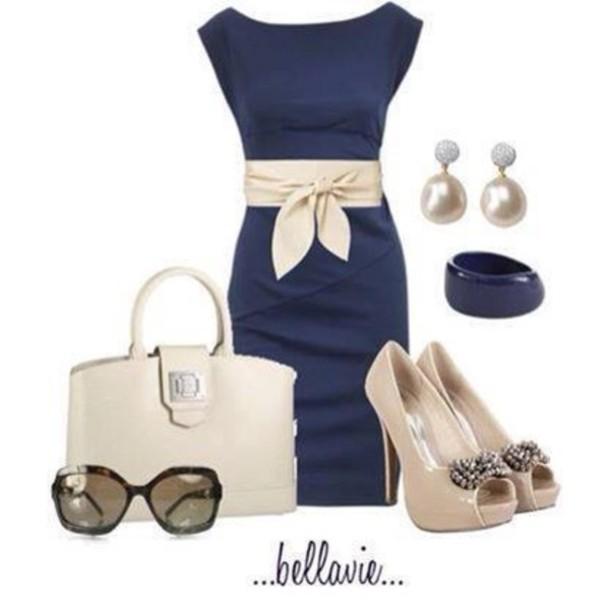 610x610-dress-navy-pencil-dress-navy-blue-dress-cream-bag-shoes.jpg