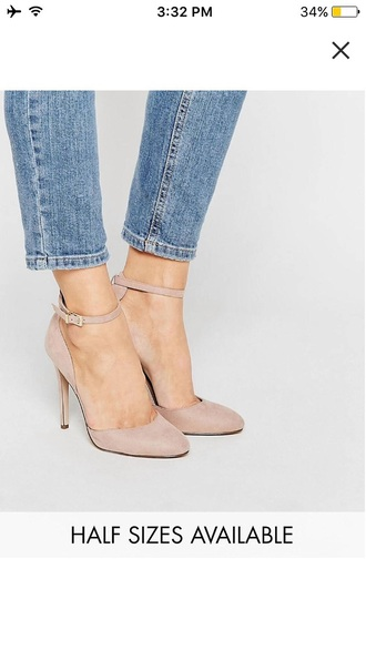 shoes high heels heels nude nude heels fashion style style me asos