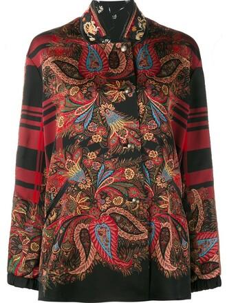 jacket plaid jacket plaid women floral black silk