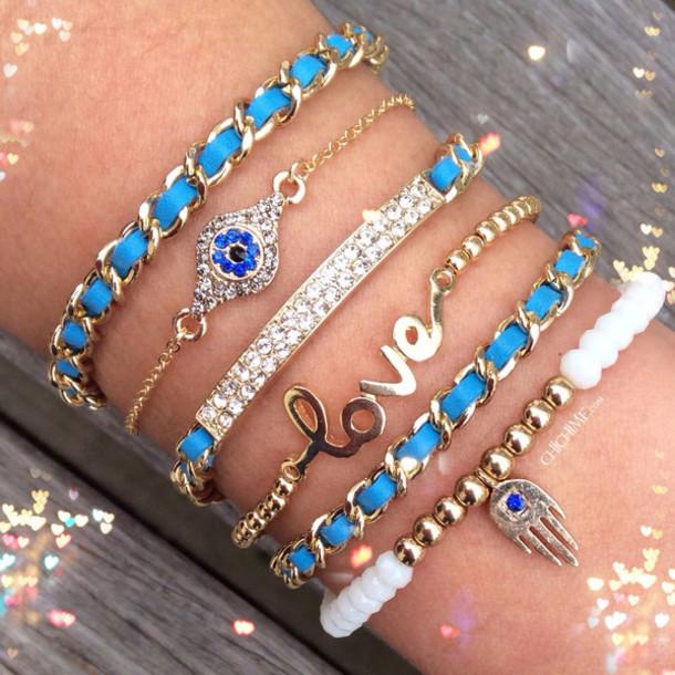 jewels wow jewelry love pretty beautiful yes bracelets blue now trendy