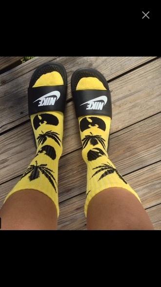 socks yellow black weed wutang clan