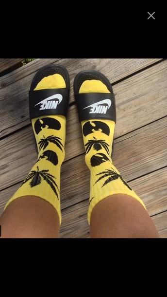 socks yellow black weed wu-tang clan