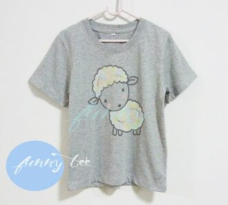 t-shirt sheep shirt animal tee farm shirt banyard cute shirt kid kids tee toddler shirt youth shirt gray shirt