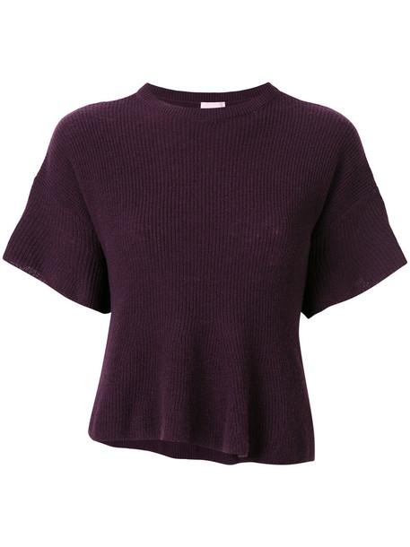 Giamba sweater women wool purple pink