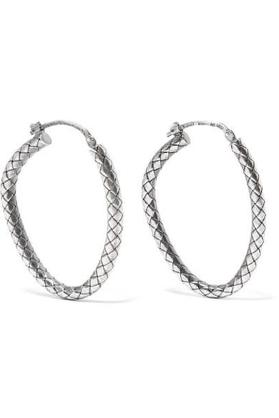 Bottega Veneta earrings hoop earrings silver jewels