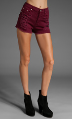 MINKPINK Runaway Slasher Shorts in Maroon | REVOLVE