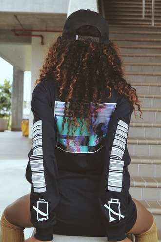 shirt t-shirt top long sleeves black black and white tumblr tumblr clothes tumblr shirt tumblr outfit tumblr girl