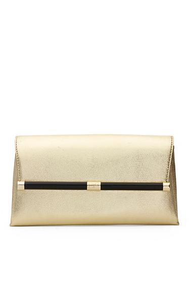 440 Envelope Metallic Embossed Lizard Clutch | Bags by DVF