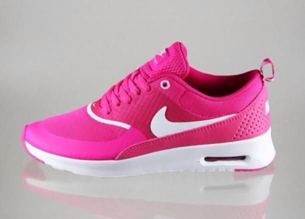 newest fa333 fe0b5 shoes air max nike air max thea pink neon summer awsome pink nike