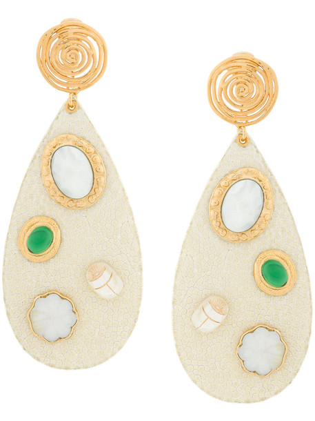 Gas Bijoux women earrings gold nude jewels