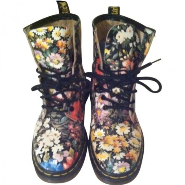 shoes DrMartens flower dr martens