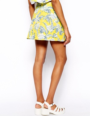 Motel | Motel Skirt In Tropical Print at ASOS