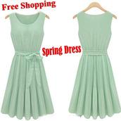 skirt,lace dress,mint dress,mint