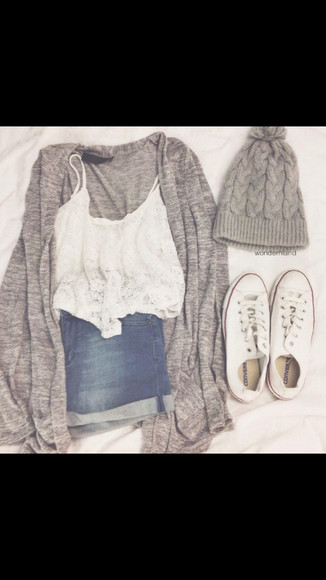 shorts shoes cardigan beanie shirt tumblr