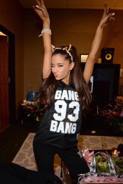 singer music ariana grande t-shirt top