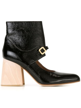cut-out boots ankle boots cut-out ankle boots black shoes