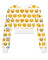 Emoji cropped crew neck