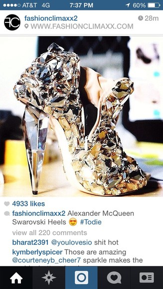 sexy alexander mcqueen shoes boots mirror swarovski sexy shoes