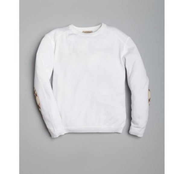 Sweater: plain white, baggy - Wheretoget