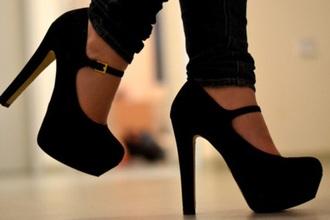bag black high heels mary jane shoes